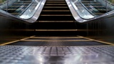 Escalator stock footage