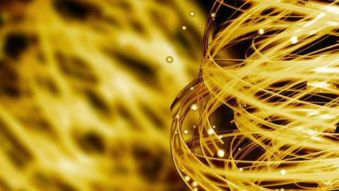 Golden Light Streaks - Abstract Background 76 (HD) Stock Video Footage