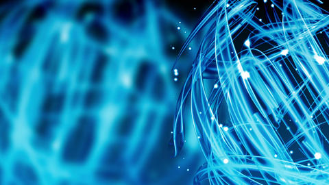 Blue Cool Light Streaks - Abstract Background 78 (HD) Stock Video Footage