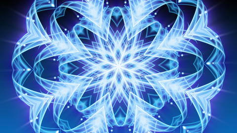 Cool Snowflake Ornament - Abstract Background 80 (HD) Stock Video Footage