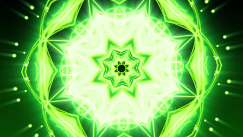 Green Floral Ornament - Abstract Background 82 (HD) Stock Video Footage