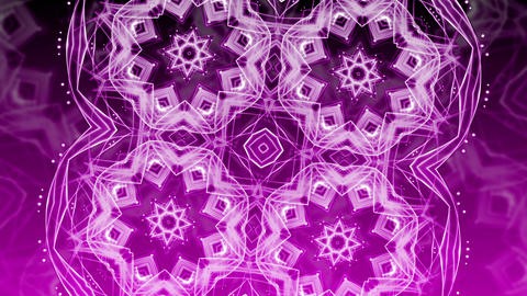Purple Glowing Ornament - Abstract Background 88 (HD) Stock Video Footage