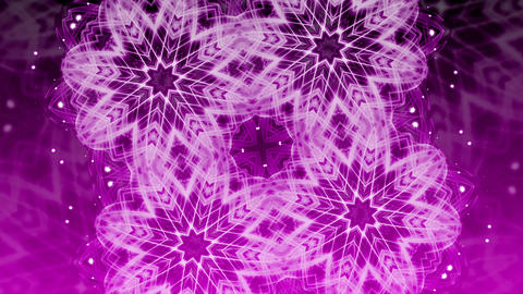 Purple Glowing Ornament - Abstract Background 88 (HD) Animation