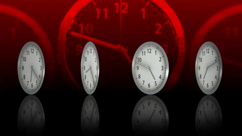 Passing Time Background - Clock 76 (HD) Stock Video Footage