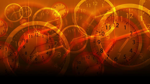 Time Flies Background - Clock 78 (HD) Animation