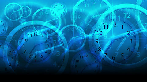 Time Flies Background - Clock 80 (HD) Animation