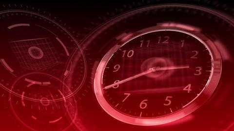 Time Flies - Hi-tech Clock 86 (HD) Stock Video Footage