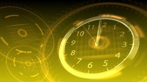 10 seconds to 12 - Hi-tech Clock 88 (HD) Stock Video Footage