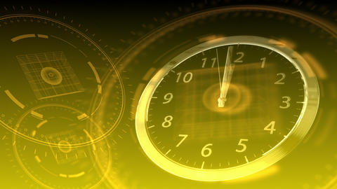10 seconds to 12 - Hi-tech Clock 88 (HD) Animation