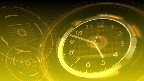 Time Flies - Hi-tech Clock 90 (HD) Stock Video Footage