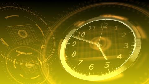 Time Flies - Hi-tech Clock 90 (HD) Stock Video Footage