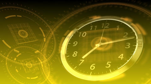 Time Flies - Hi-tech Clock 90 (HD) Animation