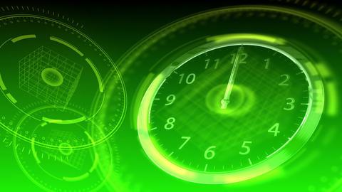 Time Flies - Hi-tech Clock 92 (HD) Stock Video Footage