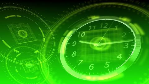 Time Flies - Hi-tech Clock 92 (HD) Animation