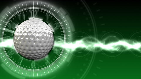 Golf Ball Background 02 (HD) Stock Video Footage