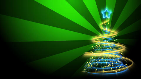 Christmas Tree Background - Merry Christmas 71 (HD) Stock Video Footage