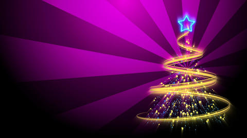 Christmas Tree Background - Merry Christmas 73 (HD) Stock Video Footage