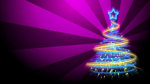 Christmas Tree Background - Merry Christmas 73 (HD) Animation