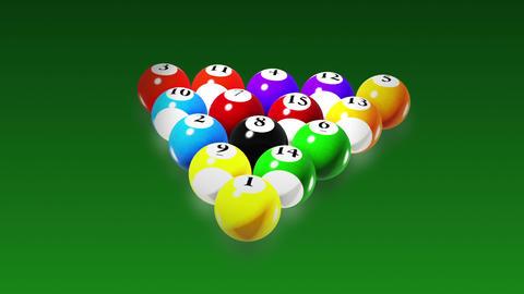 Billiards, Rotation on green background, seamless loop Stock Video Footage