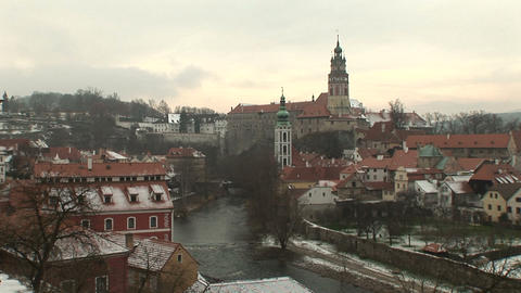 Cesky Krumlov Castle Stock Video Footage