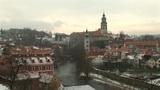 Cesky Krumlov Castle stock footage