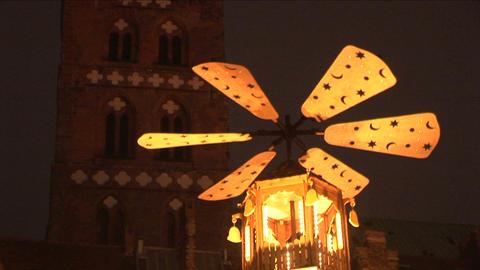 Christmas Pyramid Stock Video Footage