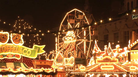 Christmas market in Bremen Stock Video Footage