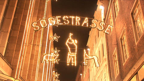 Christmas lights in Bremen Stock Video Footage