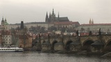 Prague Castle and Vltava River Footage