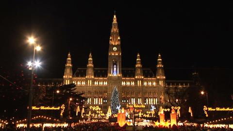 Christmas lights in Vienna ビデオ
