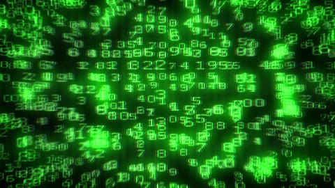 Digital Data Code Matrix Intro Stock Video Footage