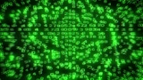 Digital Data Code Matrix Intro stock footage