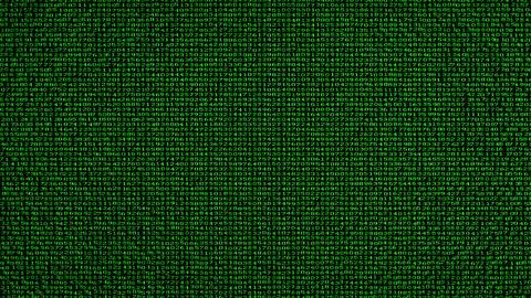 Digital Data Code Matrix Intro Stock Video Footage