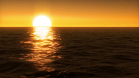Sunset over Water Stock Video Footage