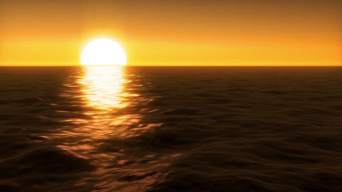 Sunset over Water Animation