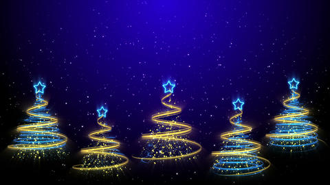 Christmas Trees Background - Merry Christmas 43 (HD) Stock Video Footage