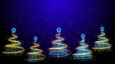 Christmas Trees Background - Merry Christmas 43 (HD) Animation