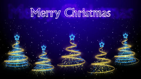Christmas Trees Background - Merry Christmas 45 (HD) Stock Video Footage