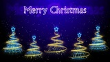 Christmas Trees Background - Merry Christmas 45 (HD) Animation
