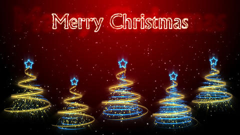 Christmas Trees Background - Merry Christmas 47 (HD) Stock Video Footage