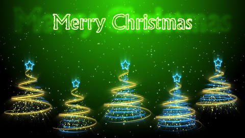 Christmas Trees Background - Merry Christmas 49 (HD) Stock Video Footage