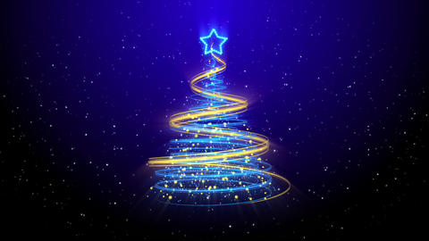 Christmas Tree Background - Merry Christmas 51 (HD) Stock Video Footage