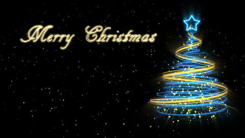 Christmas Tree Background - Merry Christmas 53 (HD) Stock Video Footage