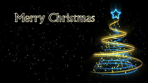 Christmas Tree Background - Merry Christmas 55 (HD) Animation