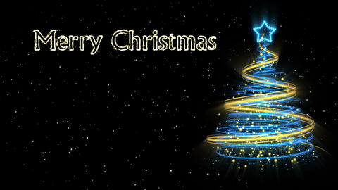 Christmas Tree Background - Merry Christmas 55 (HD) Stock Video Footage