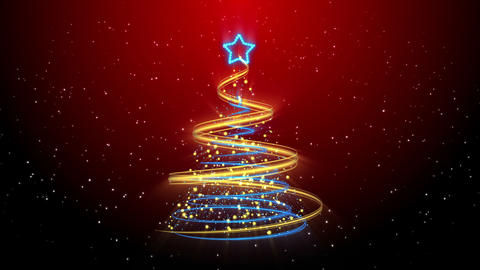 Christmas Tree Background - Merry Christmas 57 (HD) Stock Video Footage