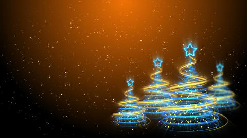 Christmas Trees Background - Merry Christmas 59 (HD) Stock Video Footage
