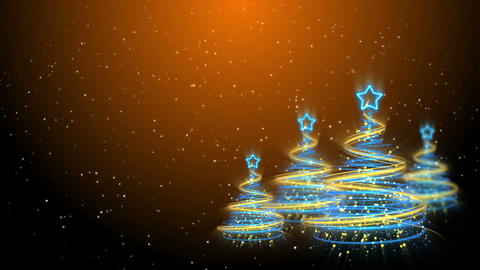 Christmas Trees Background - Merry Christmas 59 (HD) Animation
