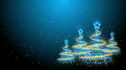 Christmas Trees Background - Merry Christmas 61 (HD) Stock Video Footage