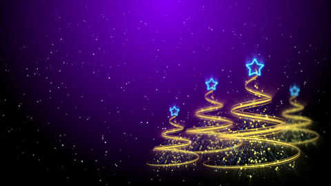 Christmas Trees Background - Merry Christmas 63 (HD) Stock Video Footage